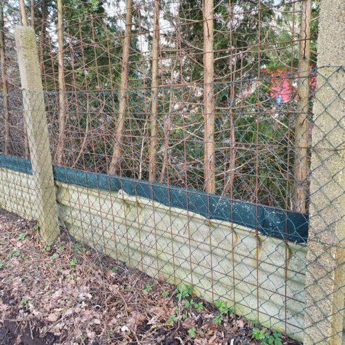 Ein neuer Zaun für den Tierschutzhof Karlsruhe